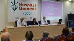 Intervenciones de los expertos durante la jornada sobre el cáncer de mama