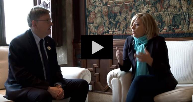 Ximo Puig y Elena Valenciano abordan la problemática de los refugiados