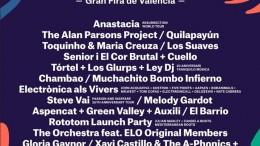 Cartel de los conciertos de la Feria de Julio