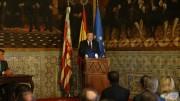 Ximo Puig durante el acto de conmemoración del Decreto de Nueva Planta