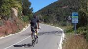Uno de los puertos de uso ciclista de la provincia de Valencia