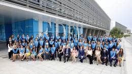 Alumnos en el acto de graduacion de EDEM