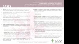 I Certamen Literario AECC Valencia Bases