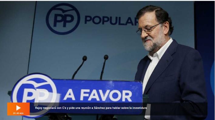 Comparerencia de Rajoy en RTVE