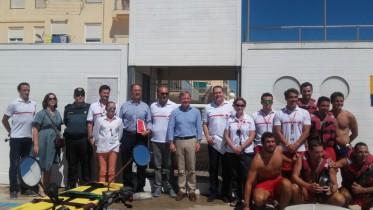 La posta de socorro de Cruz Roja de el Perellonet ha recibido la visita del Gobierno valenciano