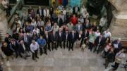 Acto de la firma del manifiesto en el Palau de la Generalitat
