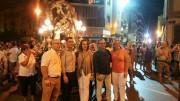 El concejal de C's en Quart de Poblet, Francisco Soler, acompañado por varios diputados de C's durante una procesión