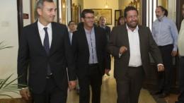 Encuentro entre los presidentes de las tres diputaciones
