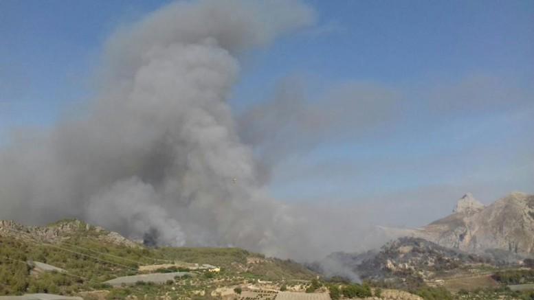 Incendio de Bolulla. Avamet