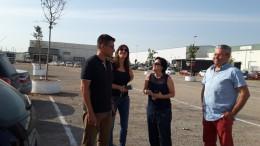Visita a las obras de aparcamiento del parque del poligono