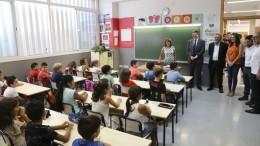 Educación. Visita al CEIP José Soto Micó de Valencia con motivo del inicio del curso escola