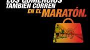 Cartel anunciador de la campaña Comercios y Maratón