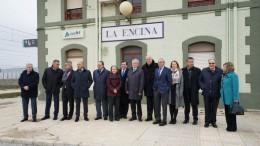 La Asociación Valenciana de Empresarios (AVE) convierte a La Encina en el epicentro de la reivindicación del Corredor Mediterráneo