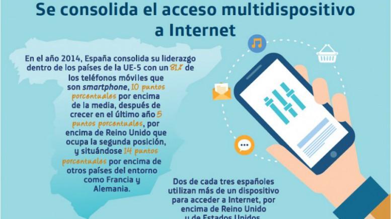 España es el líder europeo del acceso a internet a través del móvil