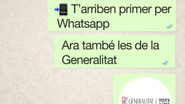 La Generalitat ya tiene Whatsapp
