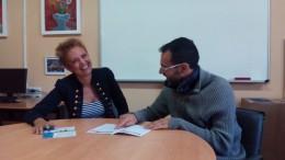 David Pla y Marisa Vercher director y profesora de Mifid II de la UPV