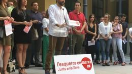 """Presentación de la """"Declaración a favor de la integración, la unidad y el cambio"""" de los grupos de apoyo a Ximo Puig"""