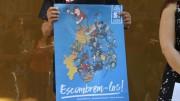 Protesta en Valencia contra la CUP por incluir la Comunidad en un mapa de los Paisos Catalans para el referéndum secesionista del 1-O