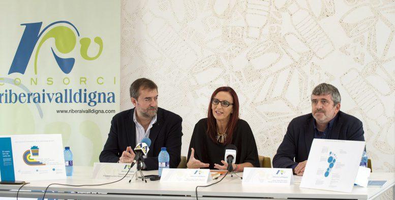 La Diputación invertirá 200.000 euros en el Consorcio Ribera - Valldigna para la modernización del sistema de recogida y gestión selectiva de residuos