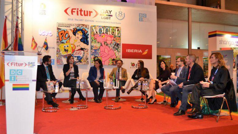El estand LGBT de la Comunitat Valenciana en Fitur reúne a destacados embajadores de la hospitalidad mediterránea