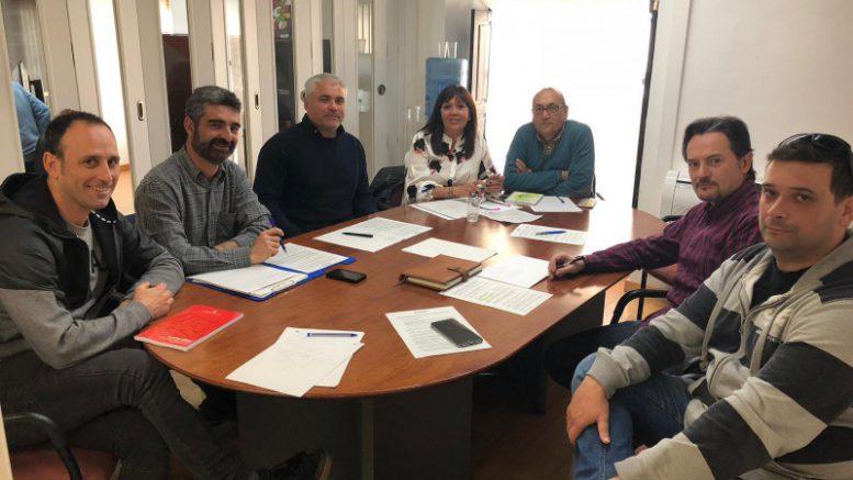 La concejal María Dolores Jiménez se reúne con los sindicatos de bomberos STA, CCOO, CSI-CSIF, UGT, SPPLB
