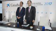 Jordi Gual Presidente del Grupo CaixaBank y el consejero delegado Gonzalo Gortázar