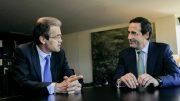 En la foto, el presidente de CaixaBank, Jordi Gual y el consejero delegado Gonzalo Gortázar