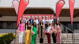 La Federació de Fogueresd'Alacant y la Bellea del Foc 2018 visitan las instalaciones de HEINEKEN España en Valencia