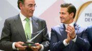 Iberdrola recibe en México el 'Premio Nacional de Calidad' en Energía Enrique Galán y el Presidente de México Enrique Peña Nieto