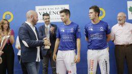 De la Vega y Carlos se proclaman campeones del Trofeo Diputación de Valencia de Frontón