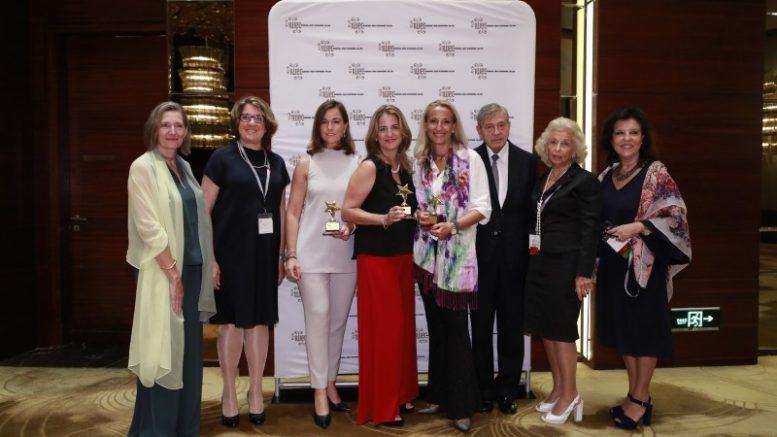 Las empresarias María Helena Antolín (Grupo Antolin), Rocío Hervella (Prosol) y Montse Martí (Martí Derm) galardonadas con los premios IWEC 2018