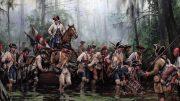 Augusto Ferrer-Dalmau, La Marcha de Gálvez, Misisipi, Baton Rouge y Natchez, agosto-septiembre de 1779. Óleo sobre lienzo, 2018. Colección privada.