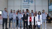 Valencia Basket visita a los hospitales con la Campaña 'Un Juguete, una sonrisa' de Falomir Juegos y Valencia Basket