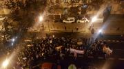 La sede de VOX Valencia acosada por Alrededor de 100 feministas radicales
