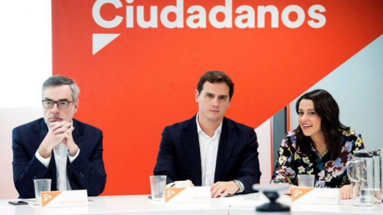 Ciudadanos ratifica por unanimidad que no pactará con el PSOE tras las elecciones generales
