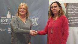 Carmen de Rosa Presidenta del Ateneo Mercantil y Elisa Tarazona, directora de operaciones del grupo Ribera Salud