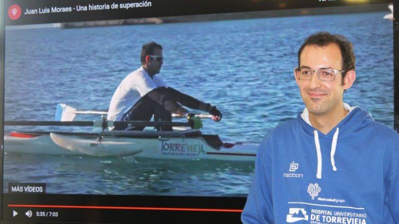Juan Luis Moraes, remero con discapacidad, compite en el campeonato del mundo con el apoyo de Ribera Salud