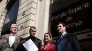 El portavoz autonómico de Cs en la C.Valenciana, Fernando Giner, Toni Cantó, y los diputados en el Parlament de Catalunya, Sonia Sierra y Matías Alonso.