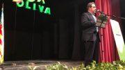 José María Llanos, Presidente Provincial de VOX, durante Acto de Presentación de VOX en Oliva